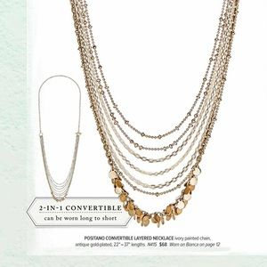 🆕 Positano Convertible Layered Necklace c+i N415